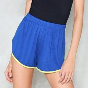 Nasty Gal: Blue track shorts NWT Size 4